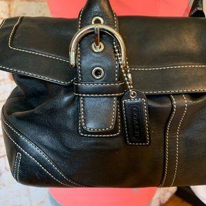Coach Bags - Vintage Coach Black Leather Bag